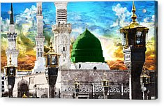 Islamic Painting 004 Acrylic Print by Catf