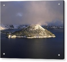 Island In A Lake, Wizard Island, Crater Acrylic Print by Panoramic Images