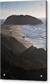 Island In The Pacific Ocean, Point Sur Acrylic Print by Panoramic Images