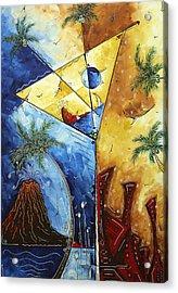 Island Martini  Original Madart Painting Acrylic Print by Megan Duncanson