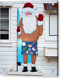 Island Santa Acrylic Print by David Lee Thompson