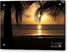 Island Sunset Acrylic Print by Charles Dobbs