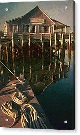 Islesford Dock Acrylic Print by Jeff Kolker