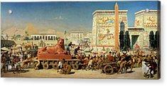 Israel In Egypt, 1867 Acrylic Print by Sir Edward John Poynter