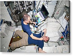 Iss Astronaut Ultrasound Scan Acrylic Print by Nasa