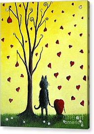 It Must Be Love By Shawna Erback Acrylic Print by Shawna Erback