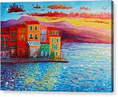 Italian Dream Acrylic Print by Bozena Zajiczek-Panus
