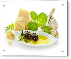 Italian Flavors Acrylic Print by Elena Elisseeva