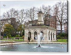 Italian Fountain In London Hyde Park Acrylic Print by Semmick Photo