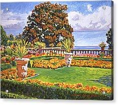 Italian Gardens Ocean View Acrylic Print by David Lloyd Glover