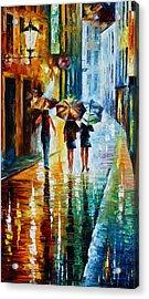 Italian Rain Acrylic Print by Leonid Afremov