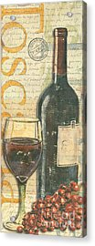 Italian Wine And Grapes Acrylic Print by Debbie DeWitt
