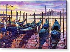 Italy Venice Early Mornings Acrylic Print by Yuriy Shevchuk