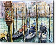 Italy Venice Lamp Acrylic Print by Yuriy Shevchuk