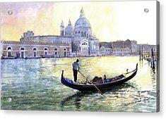 Italy Venice Morning Acrylic Print by Yuriy Shevchuk