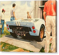 It's Ready Acrylic Print by Robert Hooper
