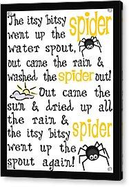 Itsy Bitsy Spider Acrylic Print by Jaime Friedman