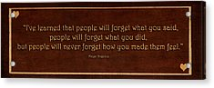I've Learned  Acrylic Print by Maria Angelica Maira
