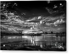 Ivory Tower Of Knowledge Bw Acrylic Print by Marvin Spates