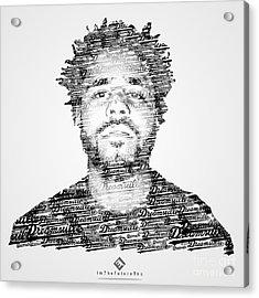 J. Cole X Dreamville X Imthefuturetho Acrylic Print by Joel Escamilla
