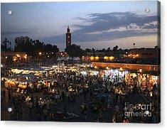 J Ma Fna Place Marrakesh Acrylic Print by Sophie Vigneault