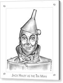 Jack Haley As The Tin Man Acrylic Print by Greg Joens