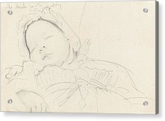 Jack Millet As A Baby , C.1888 Acrylic Print by John Singer Sargent