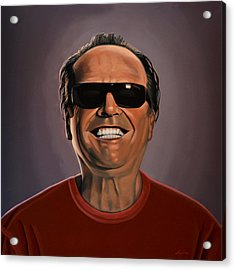 Jack Nicholson 2 Acrylic Print by Paul Meijering