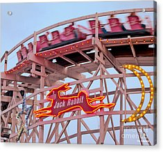 Jack Rabbit Coaster Kennywood Park Acrylic Print by Jim Zahniser