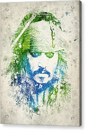 Jack Sparrow Acrylic Print by Aged Pixel