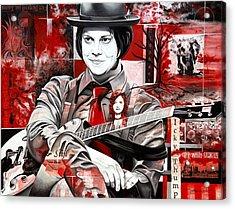 Jack White Acrylic Print by Joshua Morton