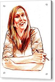 Jackie Lebel Acrylic Print by Dale Michels