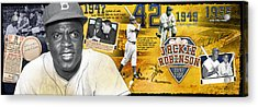 Jackie Robinson Panoramic Acrylic Print by Retro Images Archive