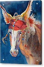 Jack Burro -  Donkey Acrylic Print by Deb  Harclerode