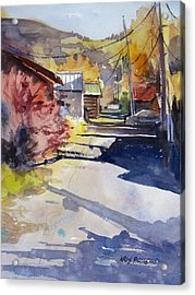 Jackson Alley Acrylic Print by Kris Parins