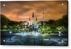 Jackson Square At Night Acrylic Print by Tim Stanley