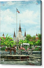 Jackson Square Carriage Acrylic Print by Dianne Parks