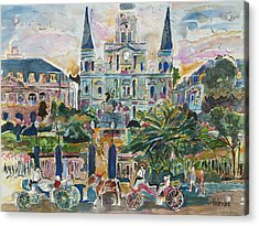 Jackson Square Acrylic Print by Helen Lee