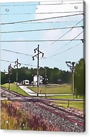 Jacksonville Il Rail Crossing 3 Acrylic Print by Jeff Iverson