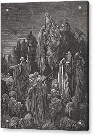 Jacob Goeth Into Egypt Acrylic Print by Gustave Dore