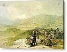 Jacob Well At Nablus  Acrylic Print by Munir Alawi