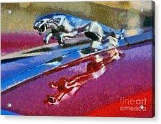 Jaguar V12 Badge Acrylic Print by George Atsametakis