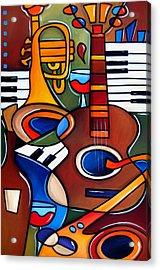 Jam Session By Fidostudio Acrylic Print by Tom Fedro - Fidostudio