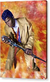 James Brown And His Famous Flames Acrylic Print by Reggie Duffie