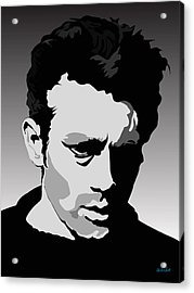 James Dean Acrylic Print by Charles Smith