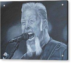 James Hetfield Metallica Acrylic Print by David Dunne