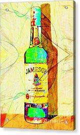 Jameson Irish Whiskey 20140916 Painterly V2 Acrylic Print by Wingsdomain Art and Photography