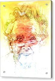 Janice Acrylic Print by  Maestro