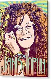 Janis Joplin Pop Art Acrylic Print by Jim Zahniser