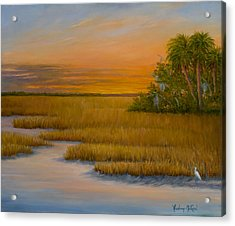 January Afternoon Acrylic Print by Audrey McLeod